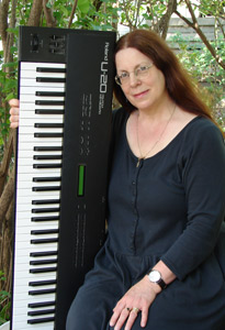Sherry with her Keyboard